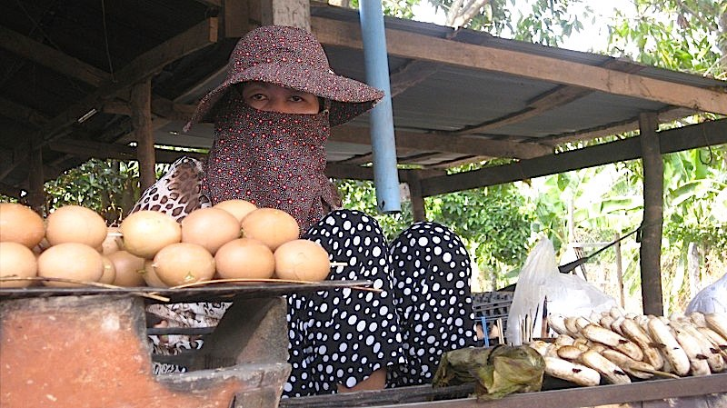 Egg Stand Moment in Cambodia
