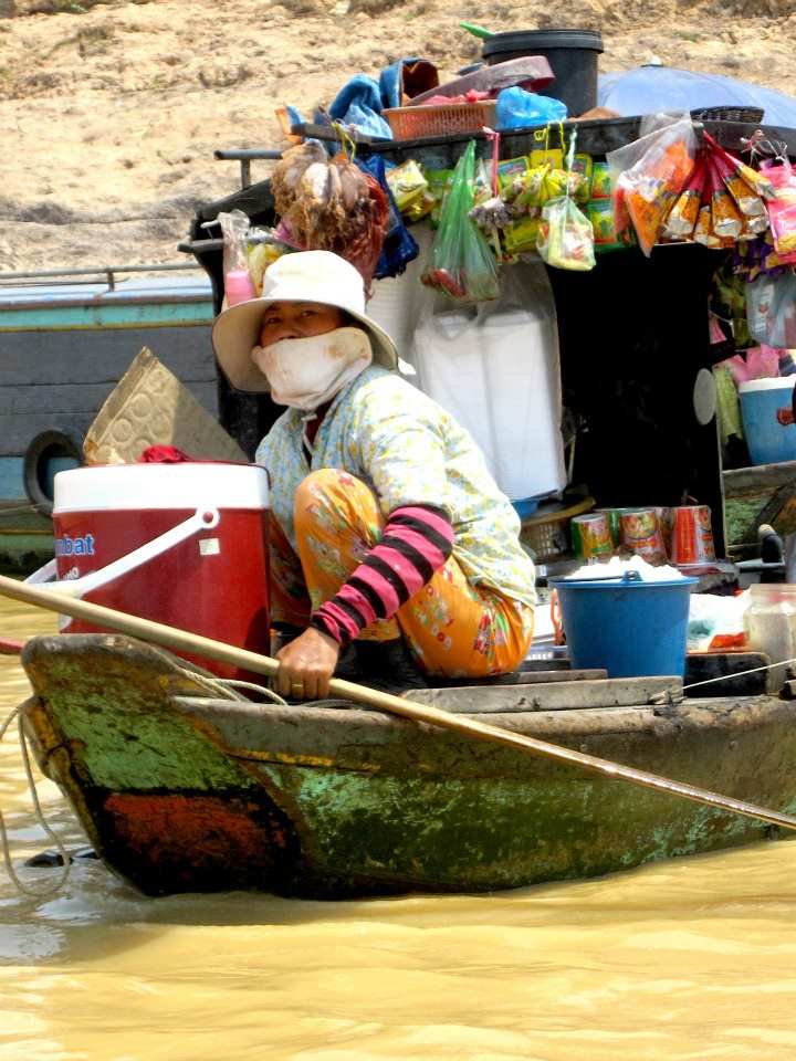 Floating Bodega in the Tonle San River of Cambodia