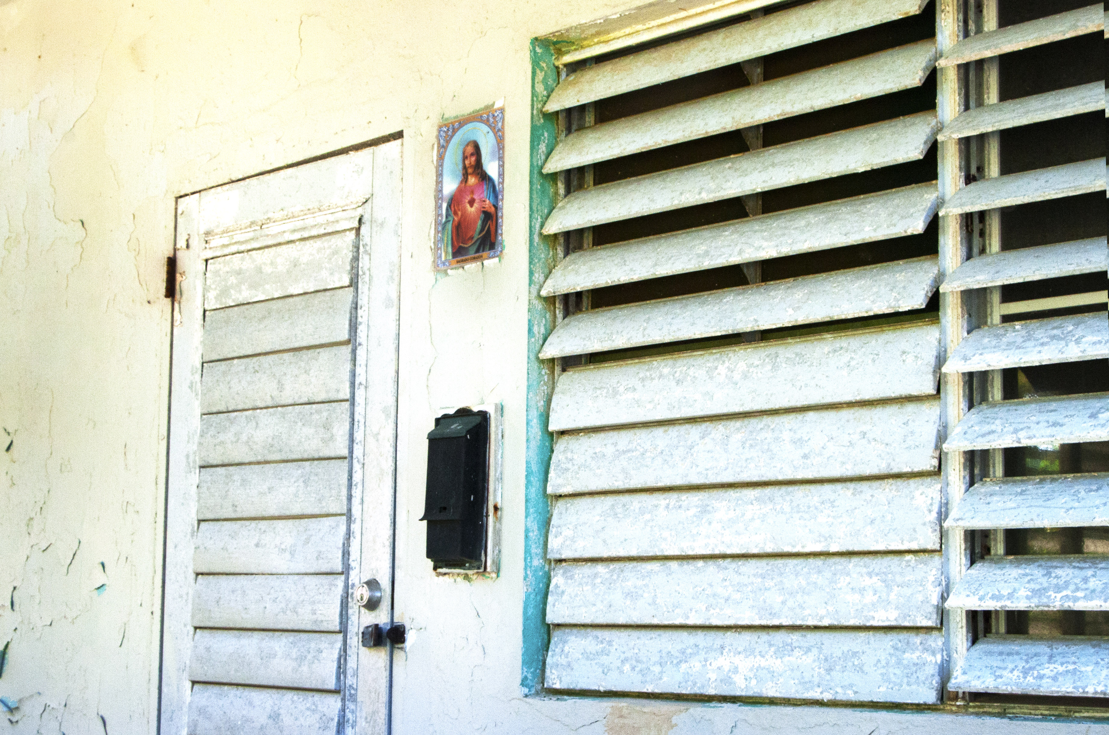 A Little Jesus on a Home in Vieques, Puerto Rico