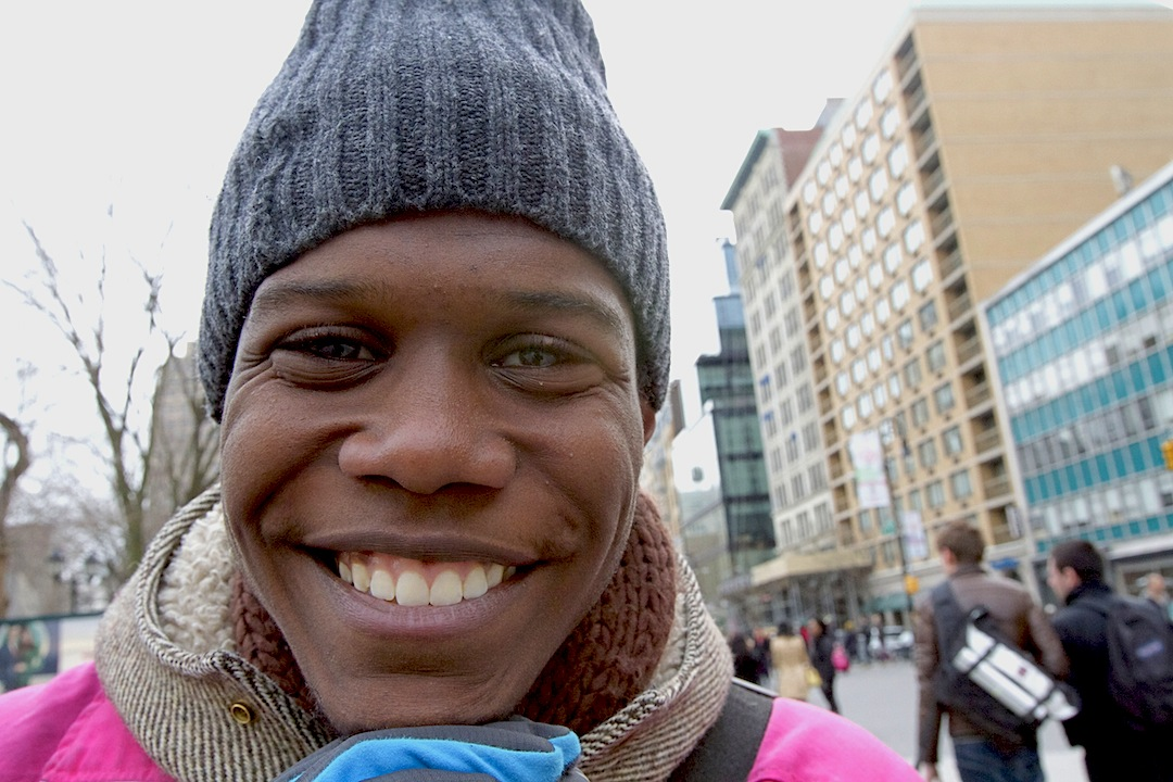Smiling in Union Square